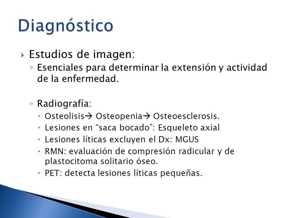 Diagnóstico Estudios de imagen: