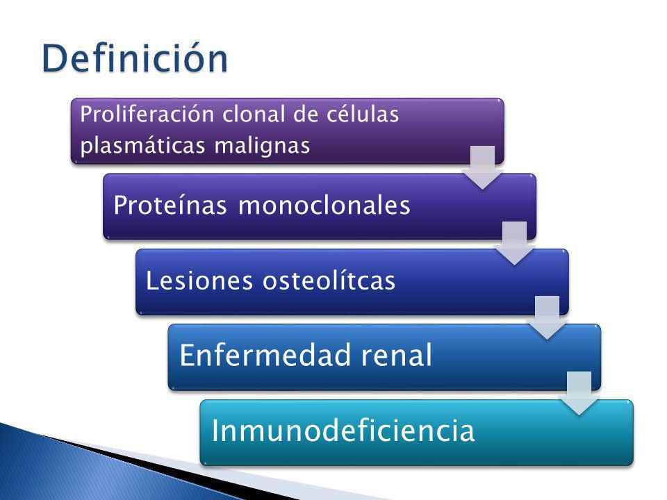 Definición Enfermedad renal Inmunodeficiencia Proteínas monoclonales