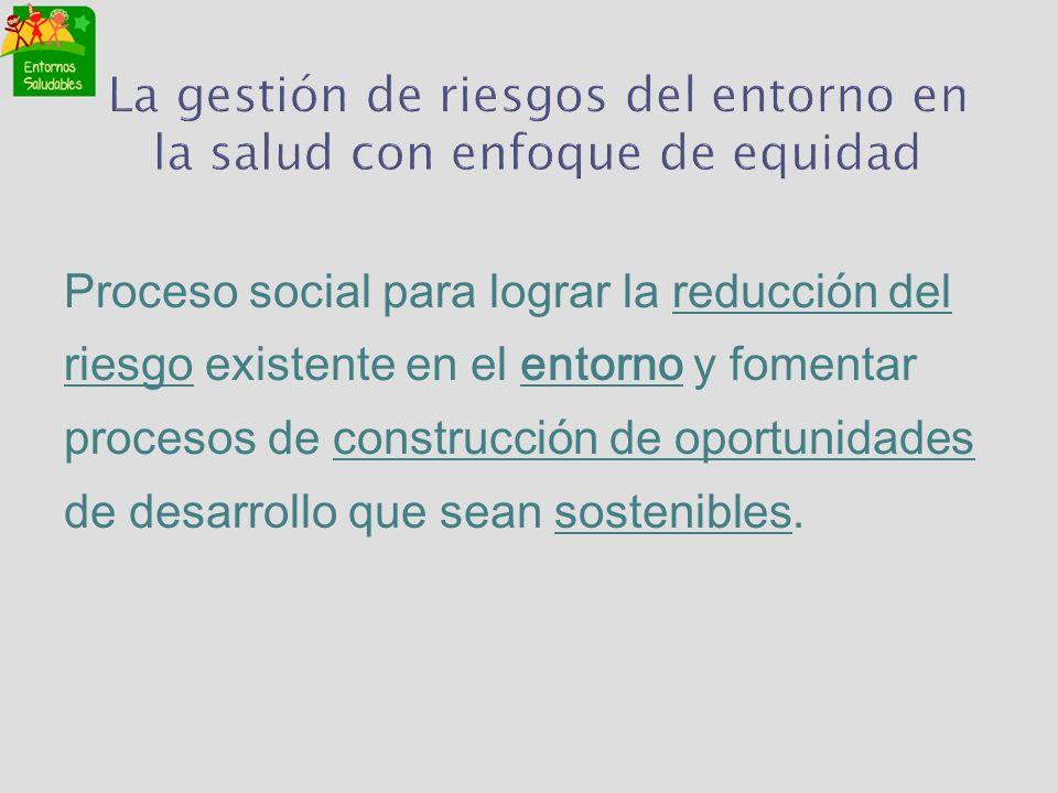 La gestión de riesgos del entorno en la salud con enfoque de equidad