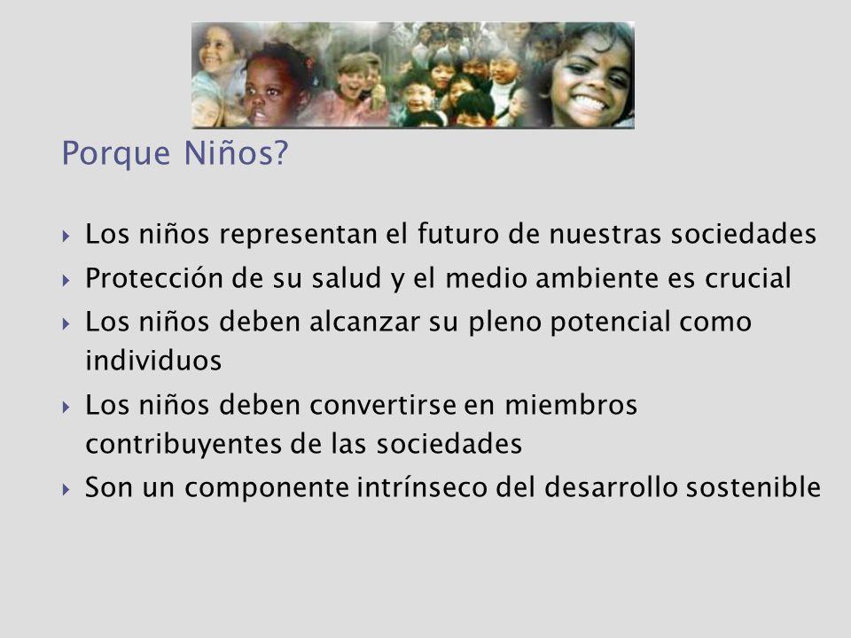 Porque Niños Los niños representan el futuro de nuestras sociedades