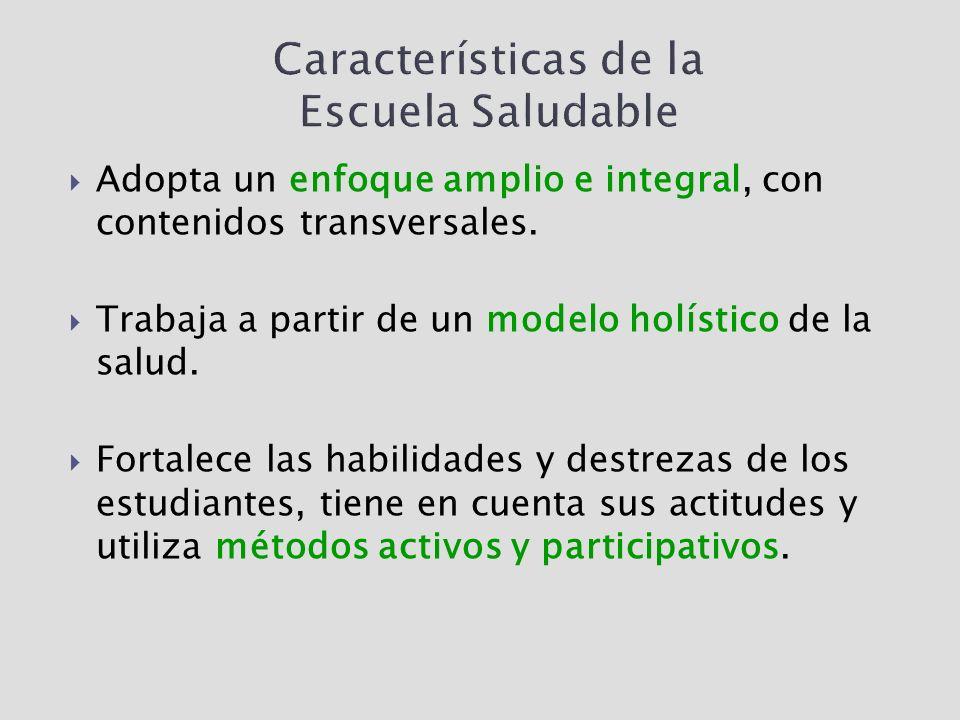Características de la Escuela Saludable