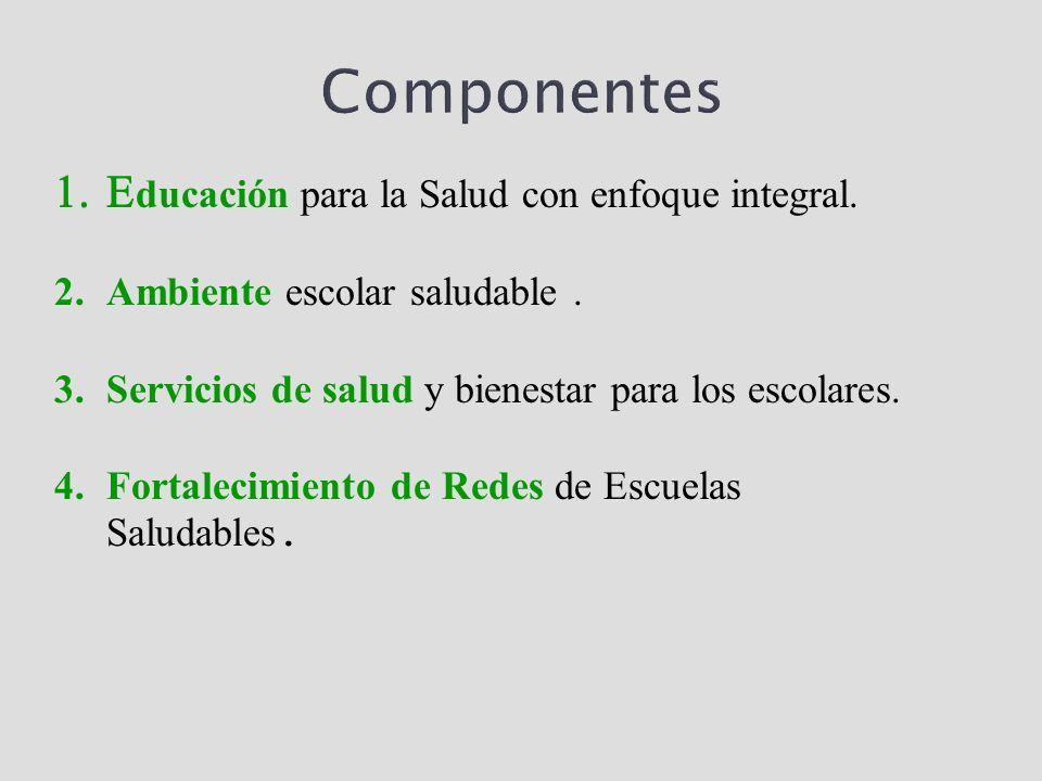 Componentes Educación para la Salud con enfoque integral.