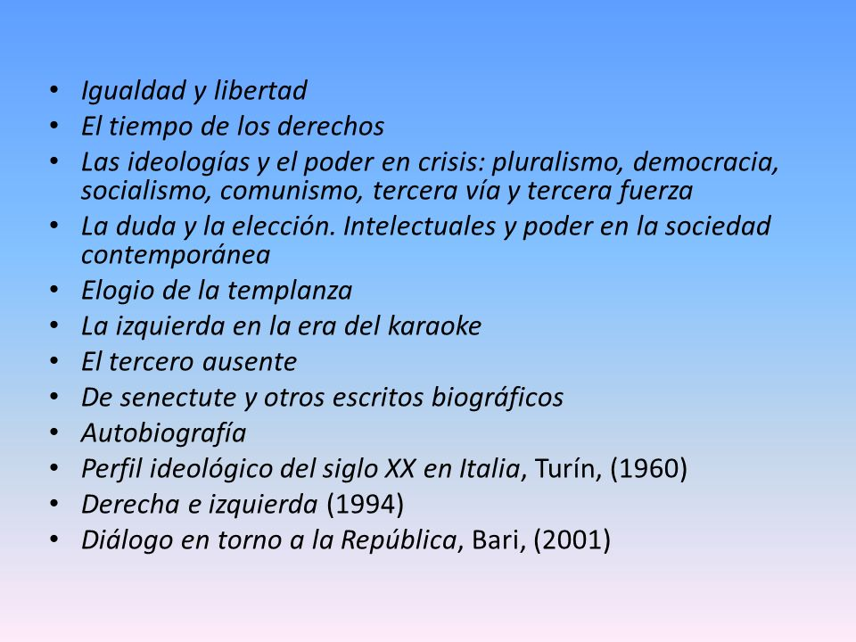 Igualdad y libertad El tiempo de los derechos.