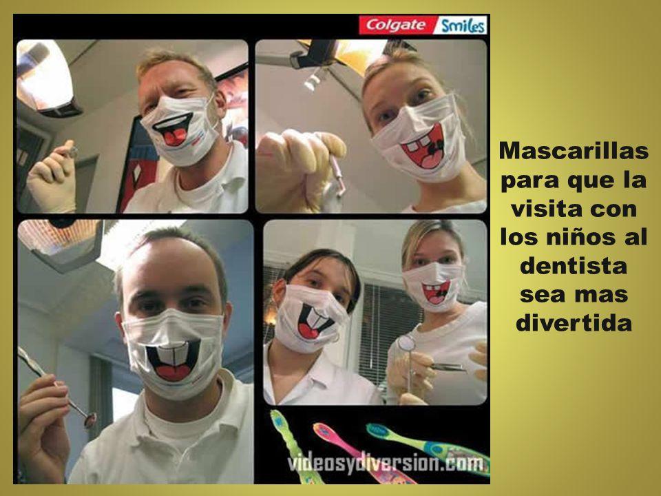 Mascarillas para que la visita con los niños al dentista sea mas divertida