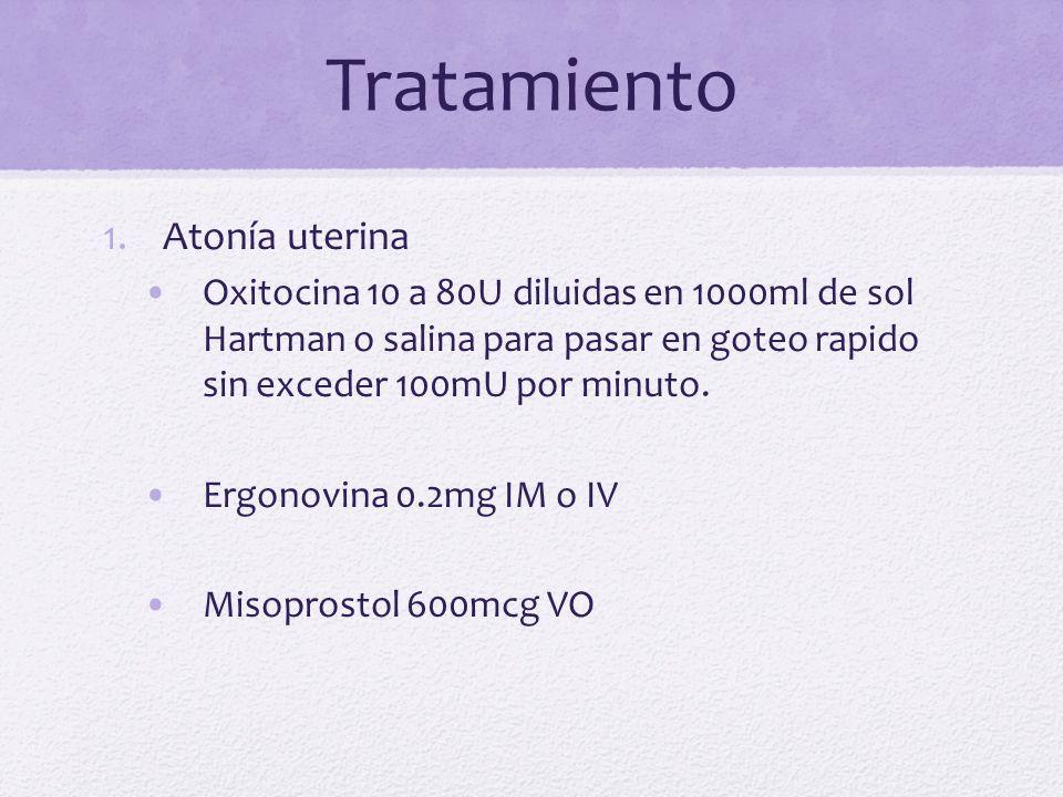 Tratamiento Atonía uterina