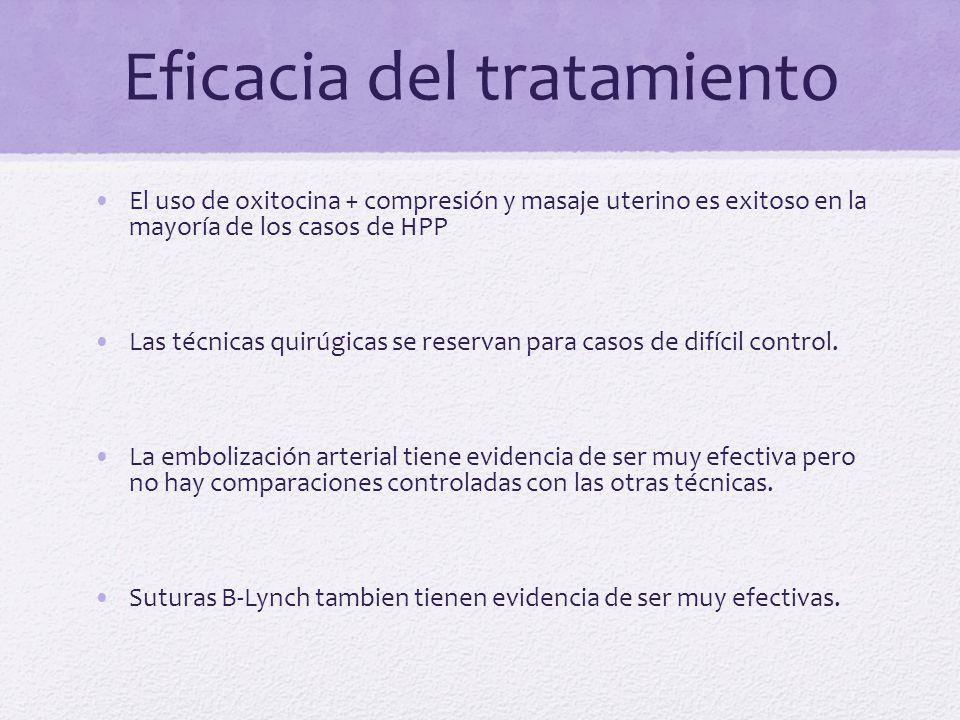 Eficacia del tratamiento