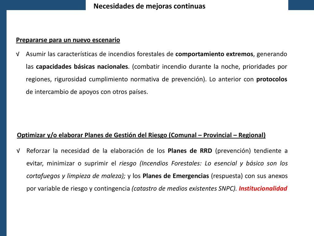 LA GESTIÓN DE RIESGO DE DESASTRES EN CHILE - ppt descargar
