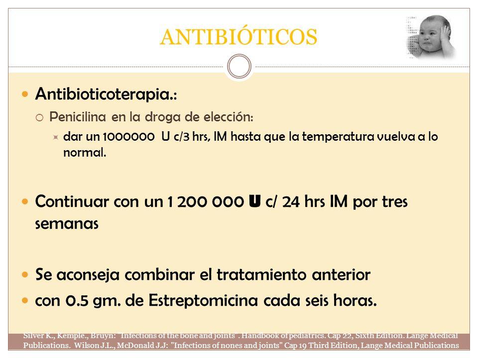 ANTIBIÓTICOS Antibioticoterapia.: