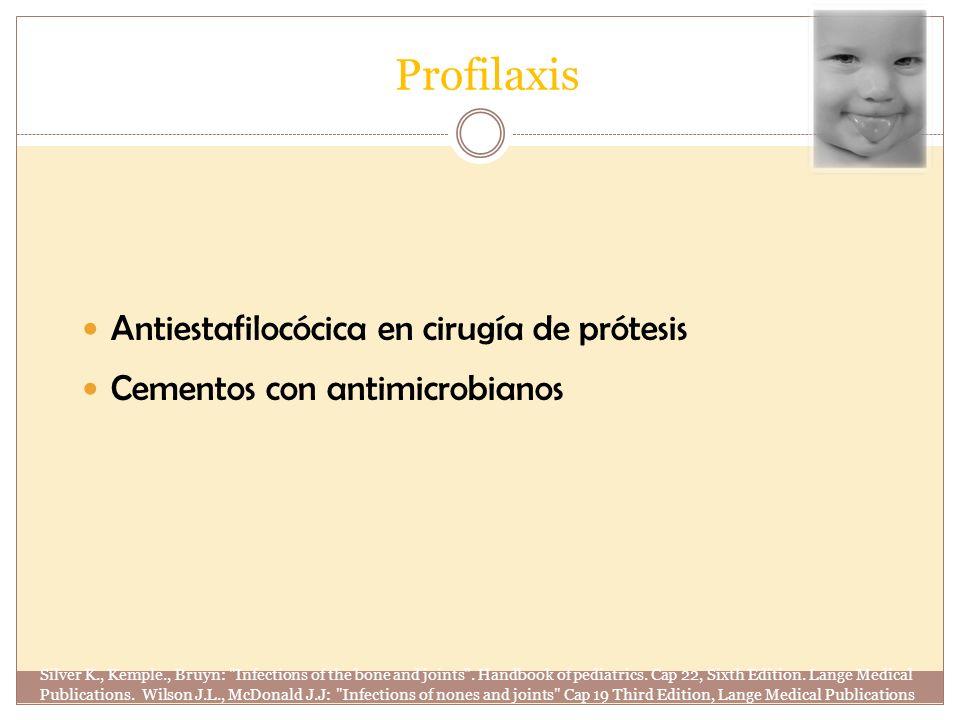Profilaxis Antiestafilocócica en cirugía de prótesis