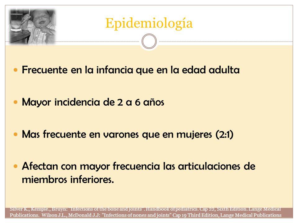 Epidemiología Frecuente en la infancia que en la edad adulta