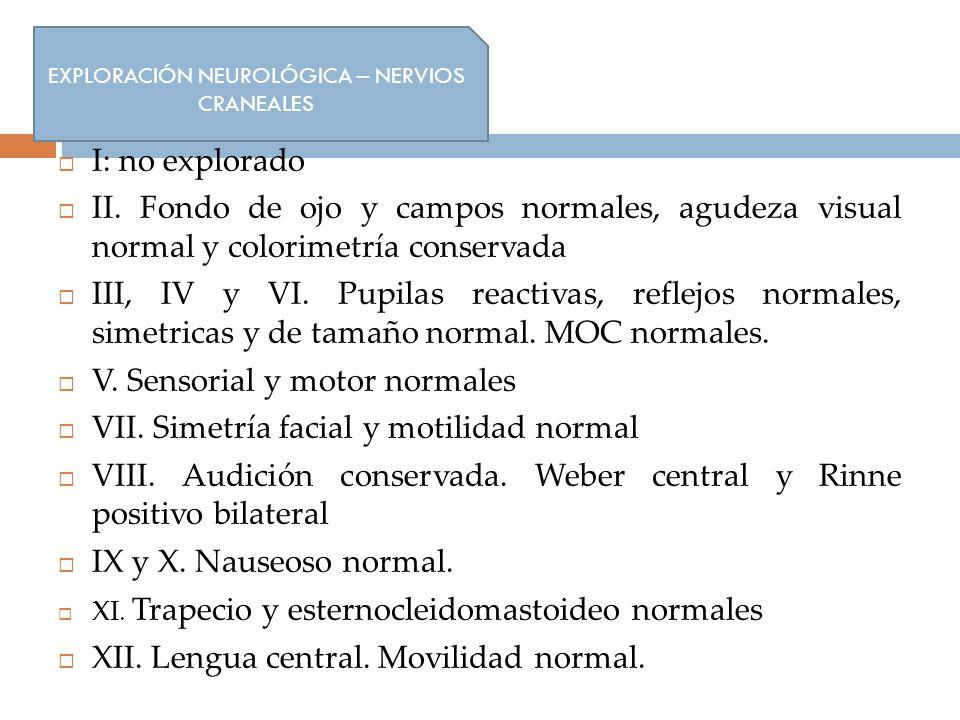 EXPLORACIÓN NEUROLÓGICA – NERVIOS CRANEALES