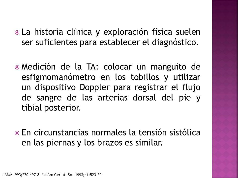 La historia clínica y exploración física suelen ser suficientes para establecer el diagnóstico.