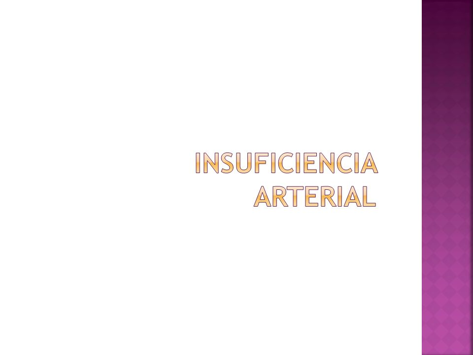 Insuficiencia Arterial