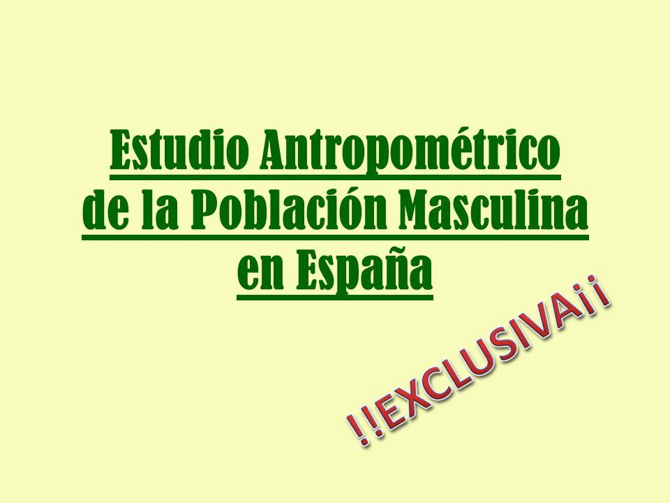 Estudio Antropométrico de la Población Masculina en España