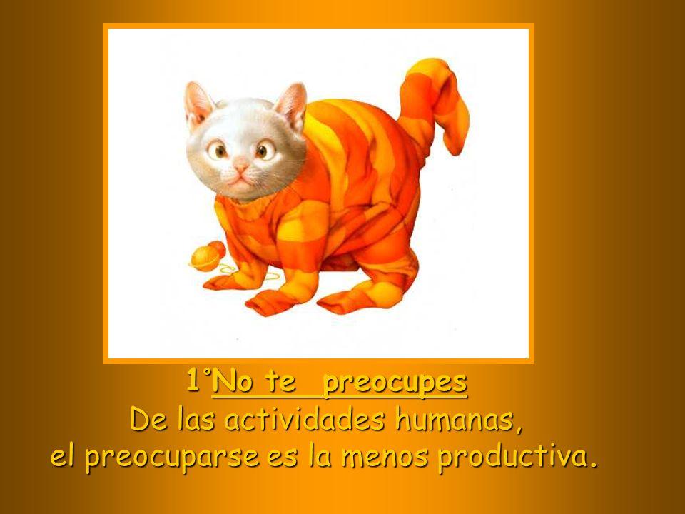 De las actividades humanas, el preocuparse es la menos productiva.