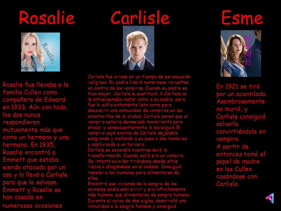 Rosalie Carlisle Esme