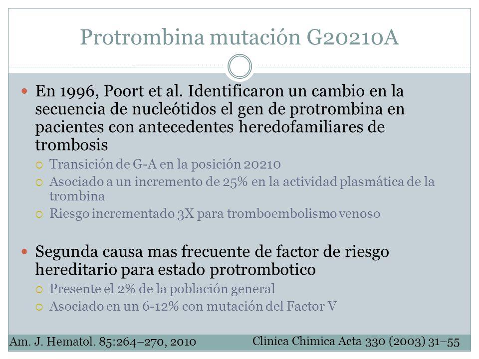 Protrombina mutación G20210A