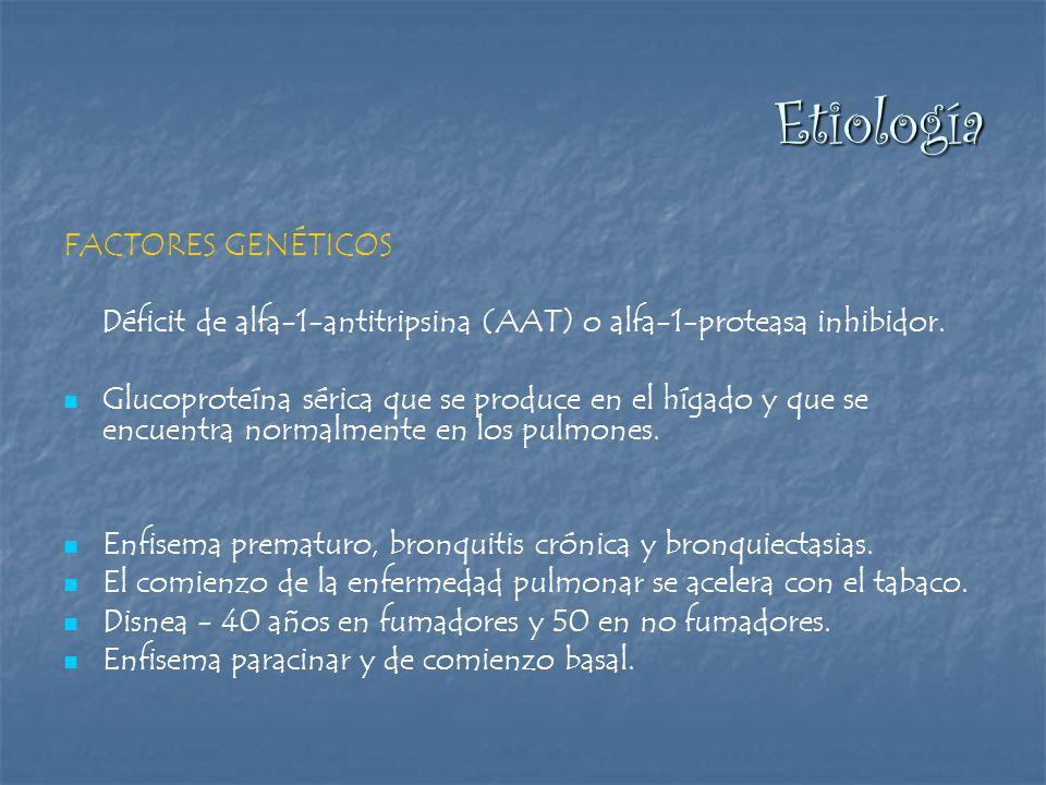 Déficit de alfa-1-antitripsina (AAT) o alfa-1-proteasa inhibidor.
