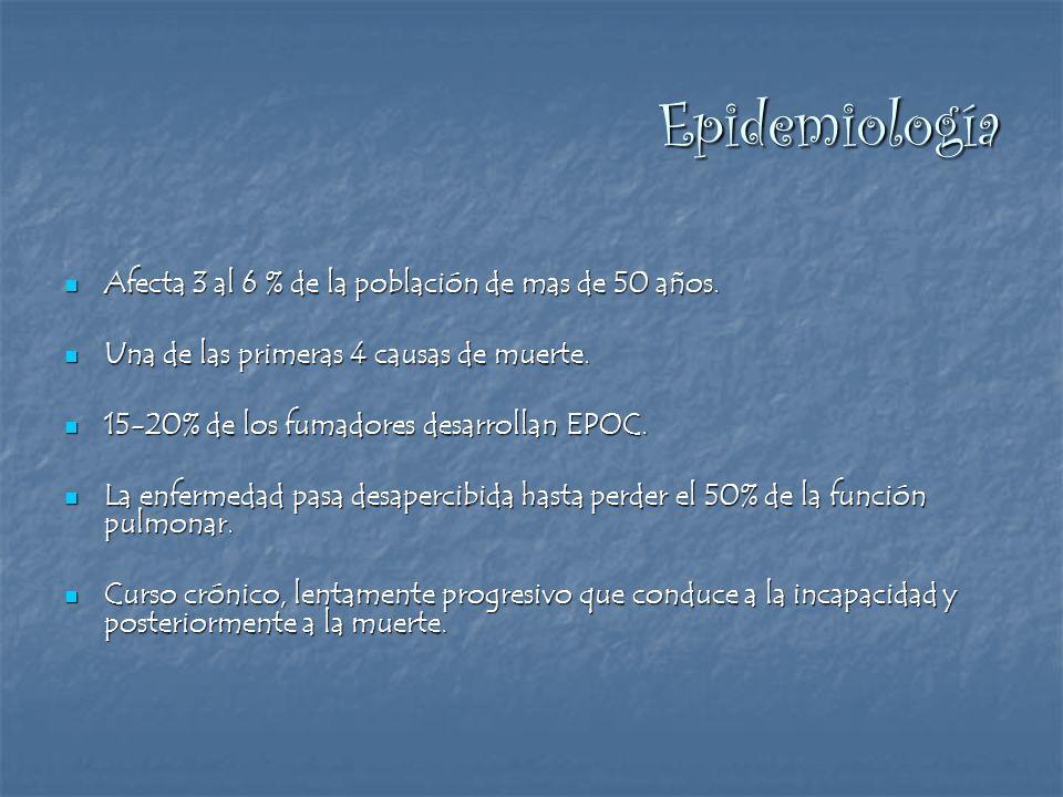 Epidemiología Afecta 3 al 6 % de la población de mas de 50 años.