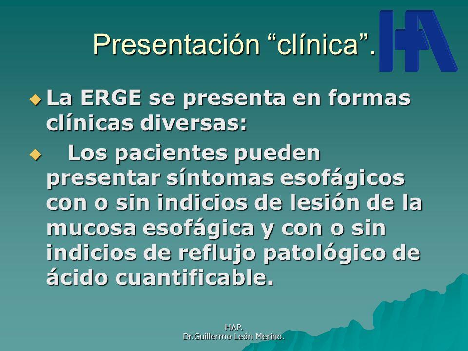 Presentación clínica .