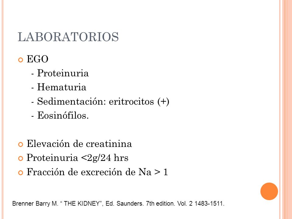 LABORATORIOS EGO - Proteinuria - Hematuria