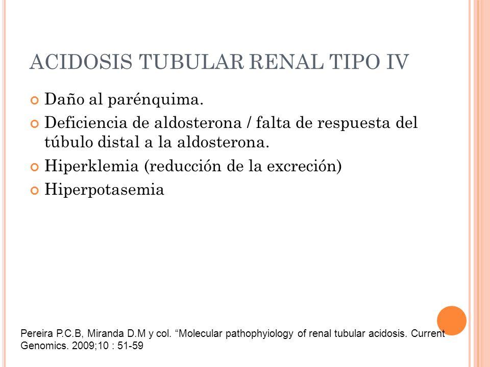 ACIDOSIS TUBULAR RENAL TIPO IV