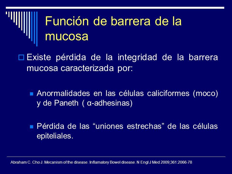 Función de barrera de la mucosa