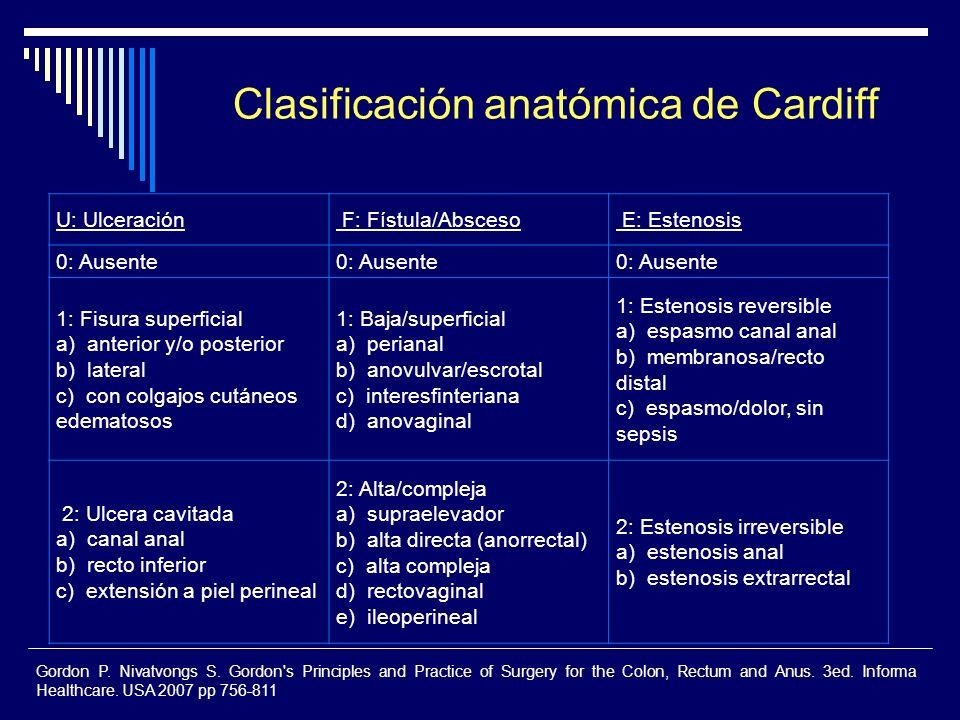 Clasificación anatómica de Cardiff