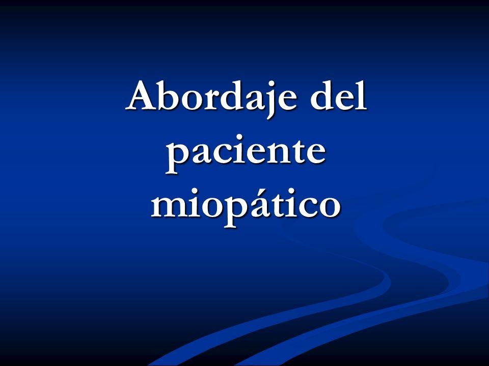 Abordaje del paciente miopático