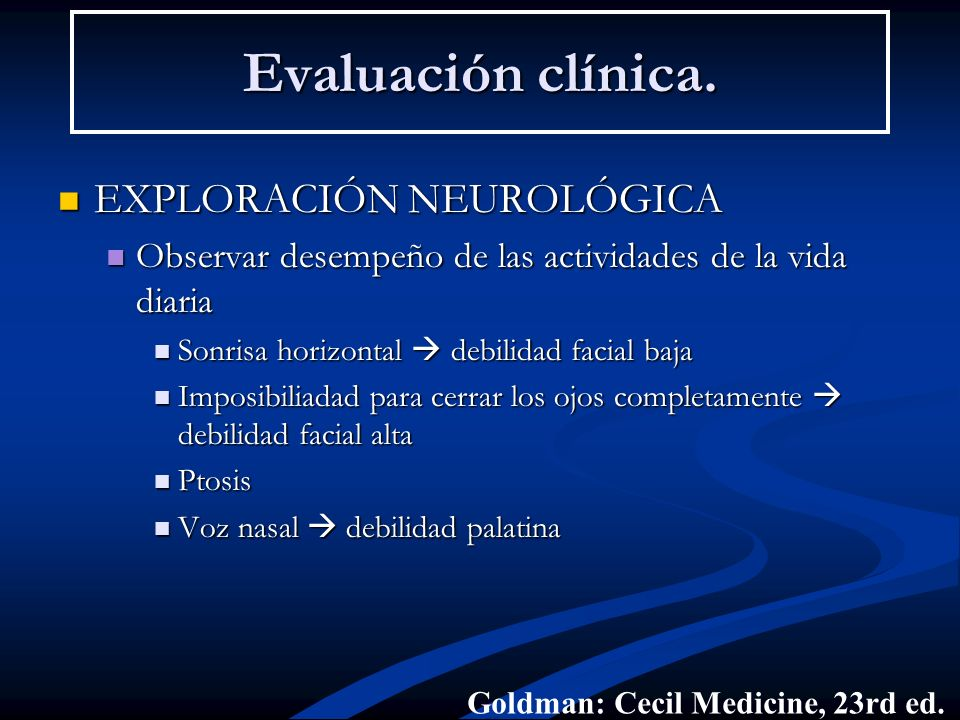 Evaluación clínica. EXPLORACIÓN NEUROLÓGICA