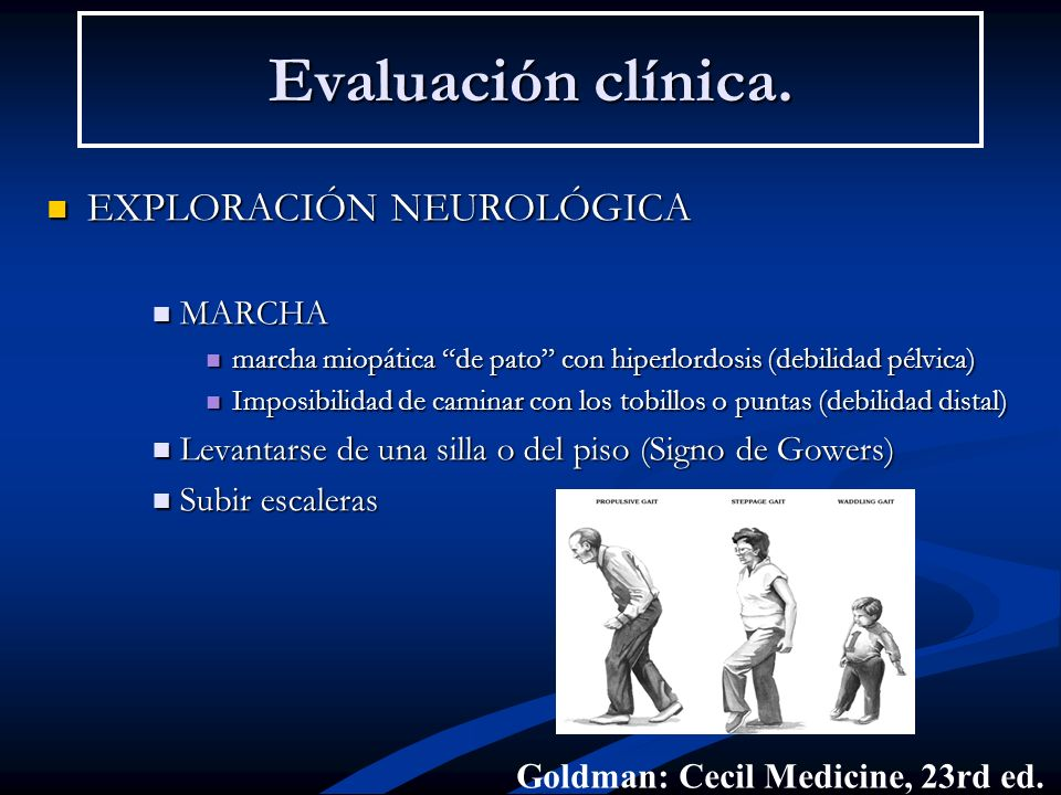 Evaluación clínica. EXPLORACIÓN NEUROLÓGICA MARCHA