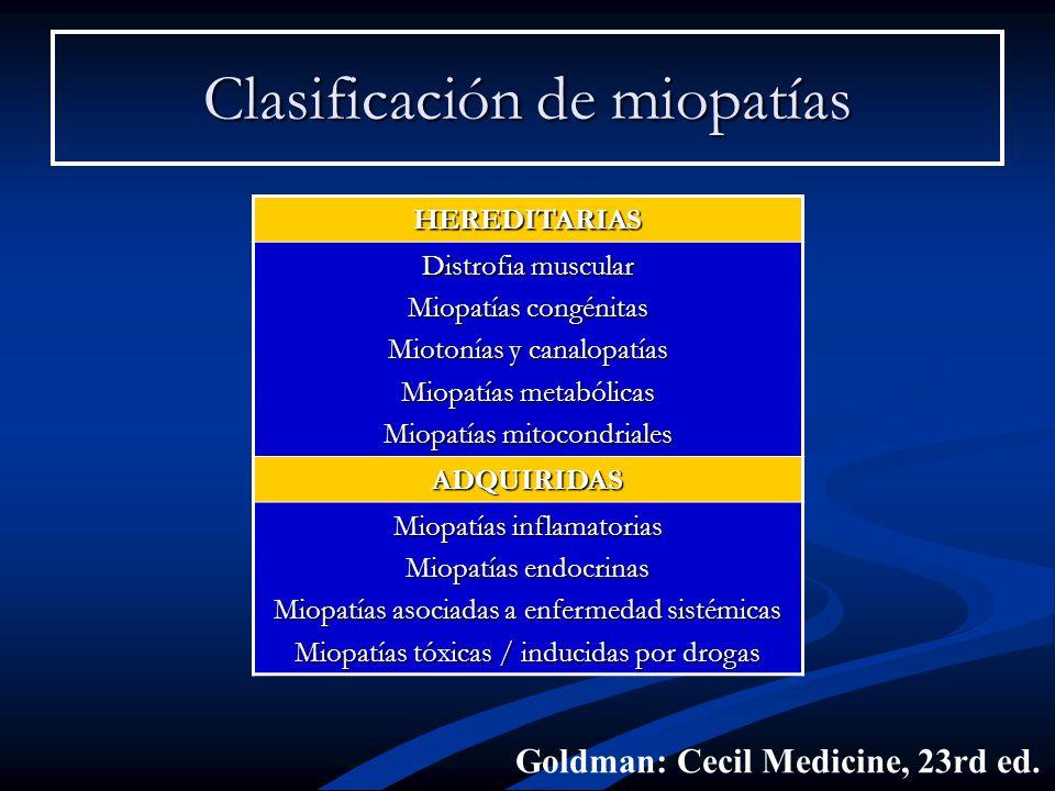 Clasificación de miopatías