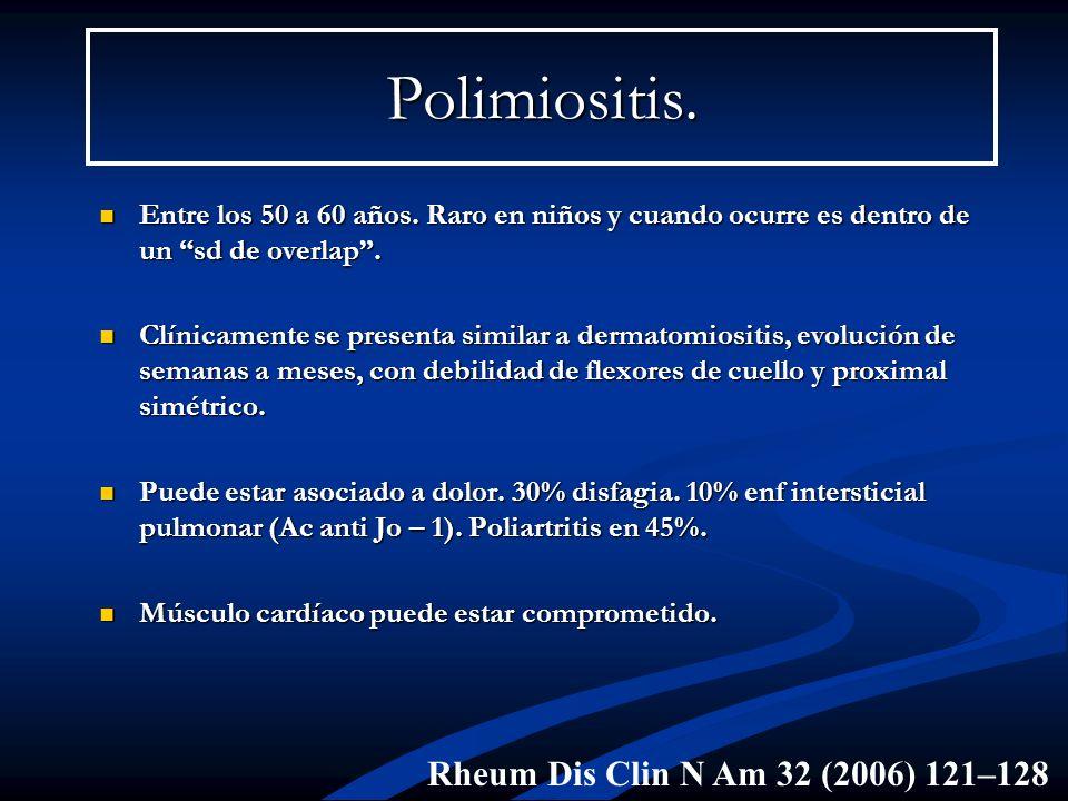 Polimiositis. Rheum Dis Clin N Am 32 (2006) 121–128