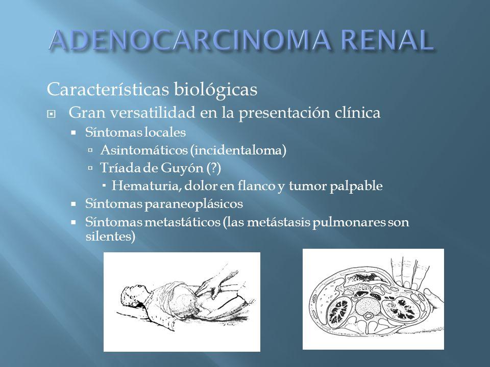 ADENOCARCINOMA RENAL Características biológicas