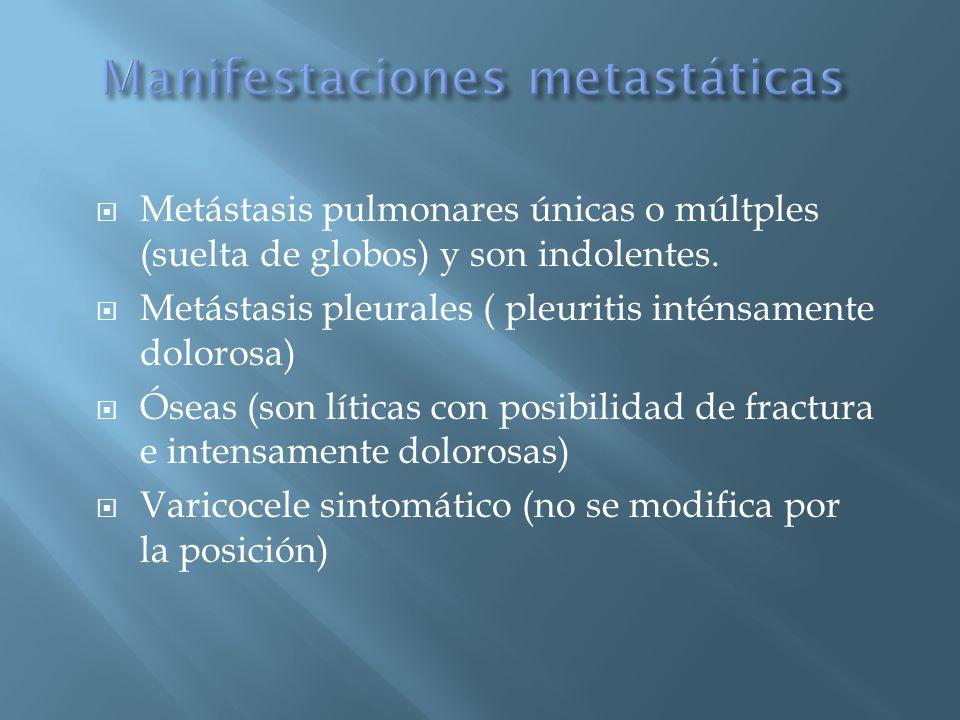Manifestaciones metastáticas