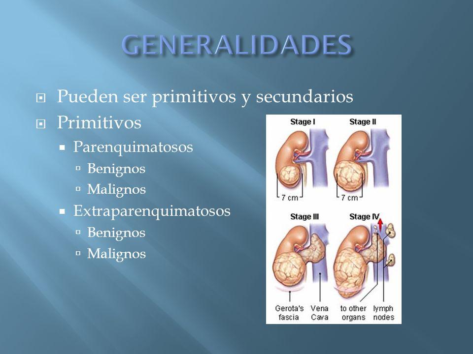 GENERALIDADES Pueden ser primitivos y secundarios Primitivos