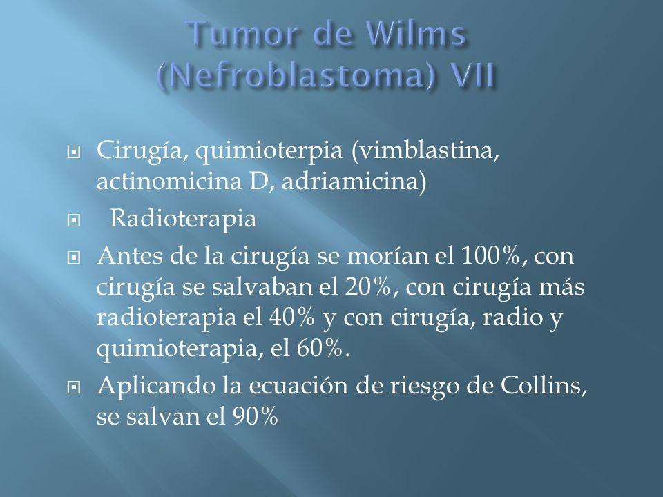 Tumor de Wilms (Nefroblastoma) VII
