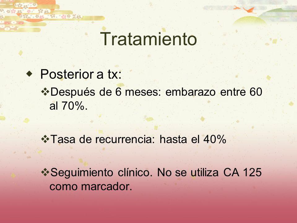 Tratamiento Posterior a tx: