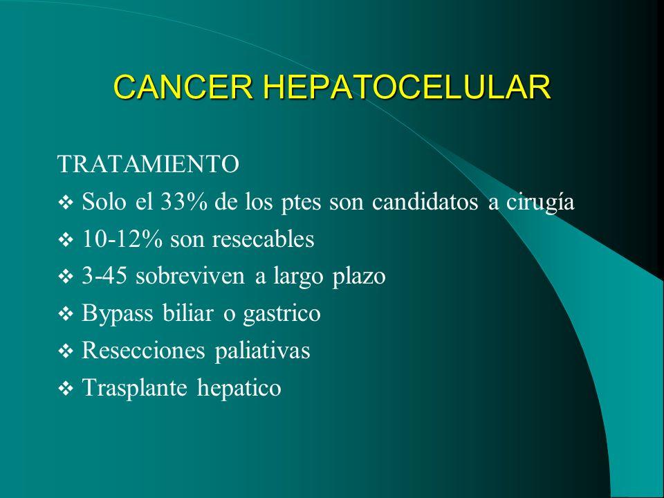 CANCER HEPATOCELULAR TRATAMIENTO