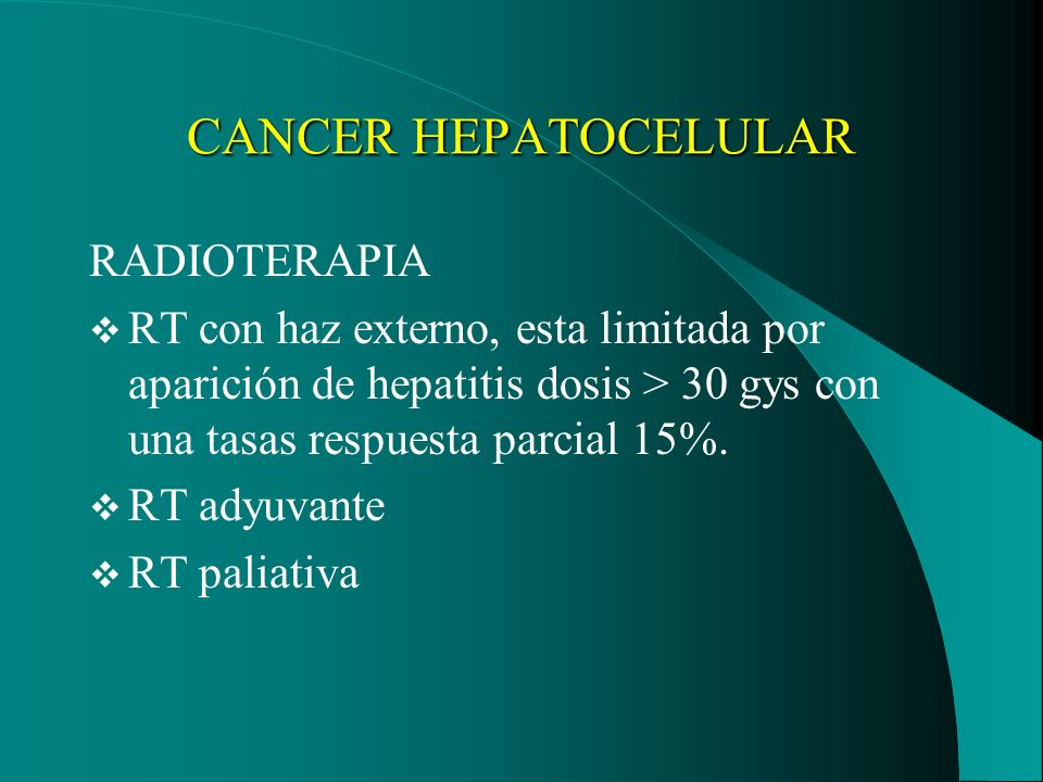 CANCER HEPATOCELULAR RADIOTERAPIA