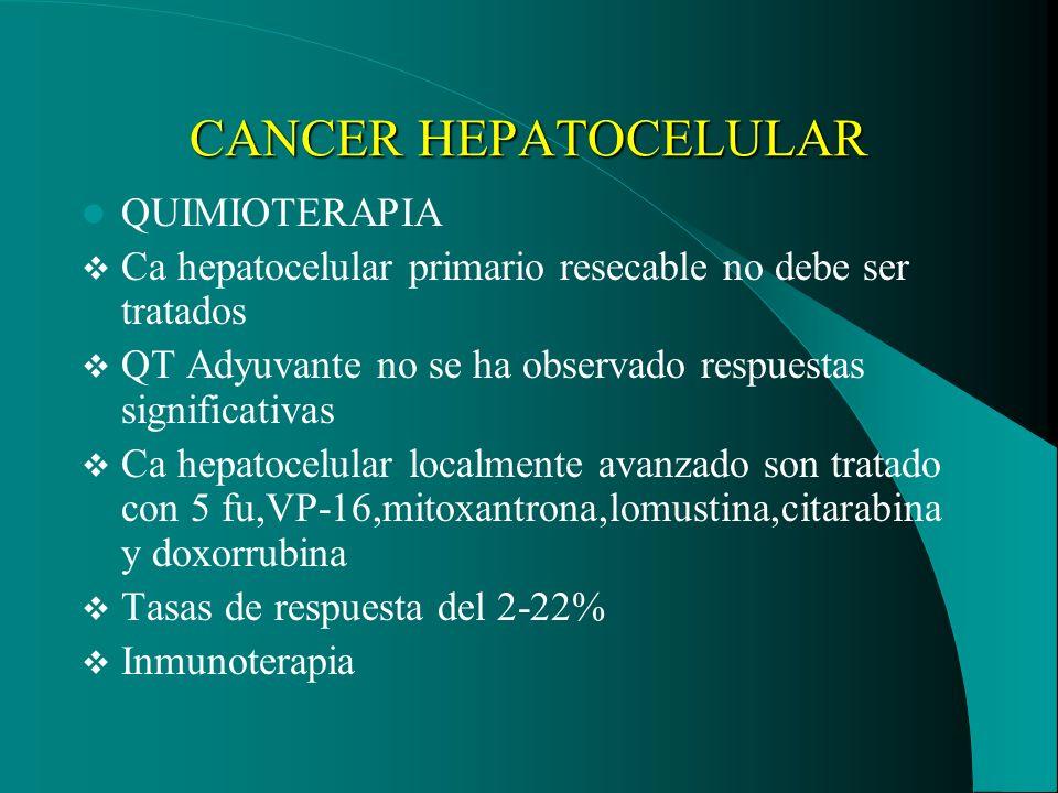 CANCER HEPATOCELULAR QUIMIOTERAPIA
