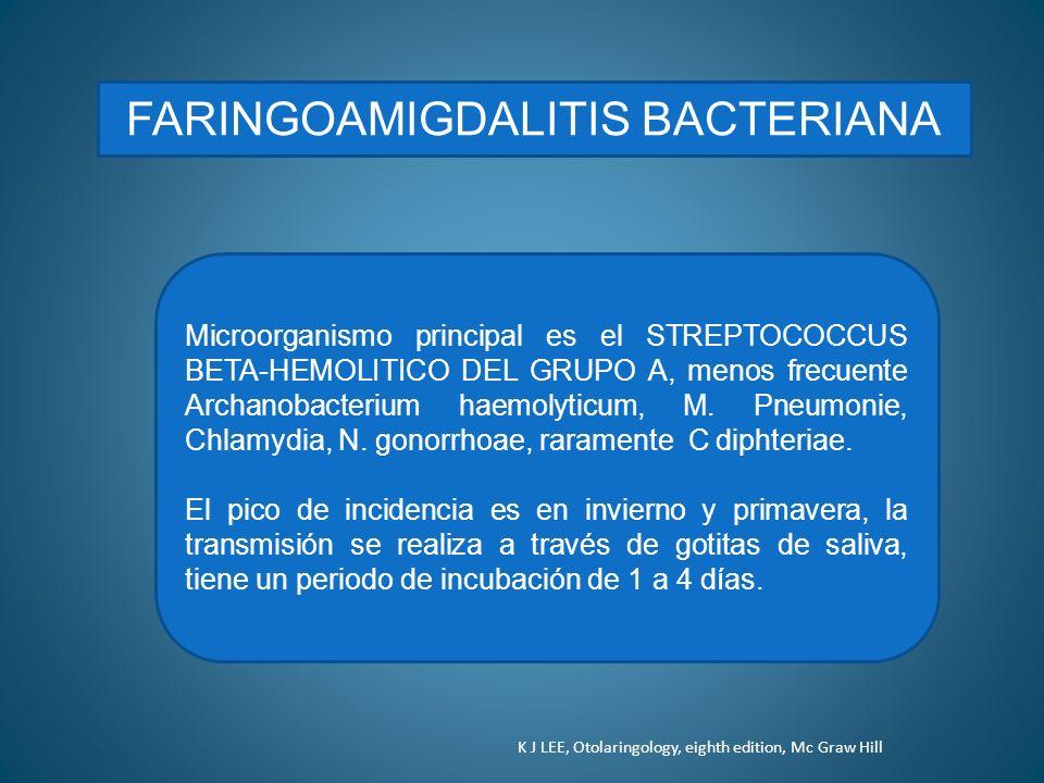 FARINGOAMIGDALITIS BACTERIANA
