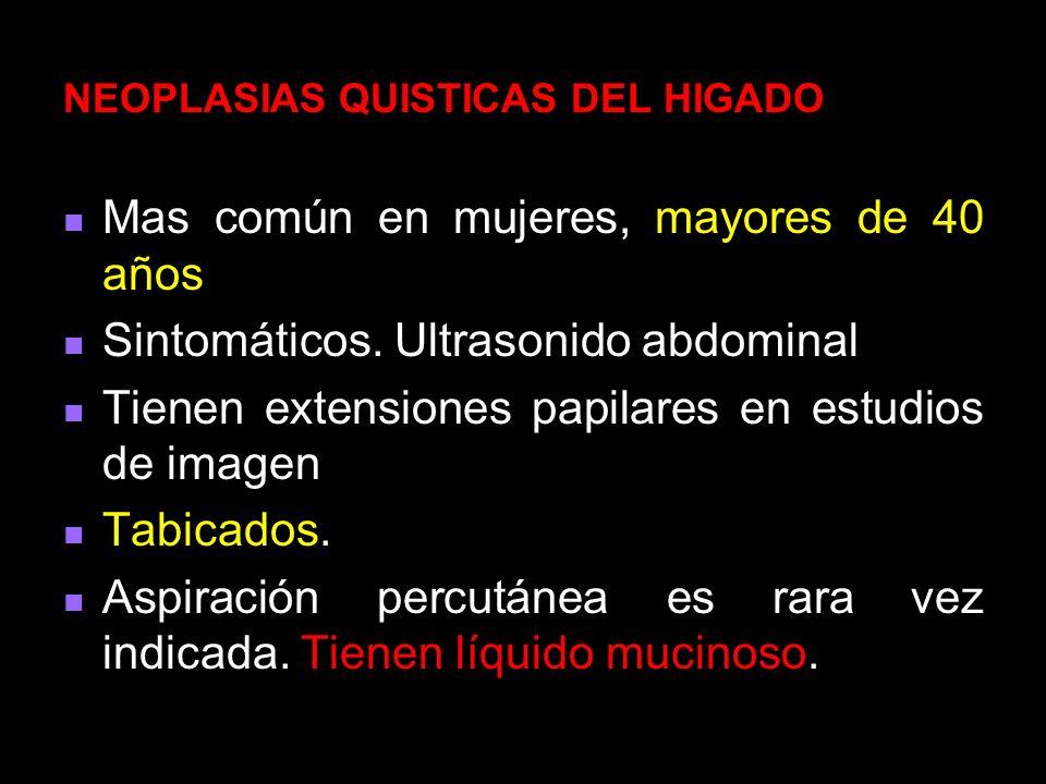 NEOPLASIAS QUISTICAS DEL HIGADO