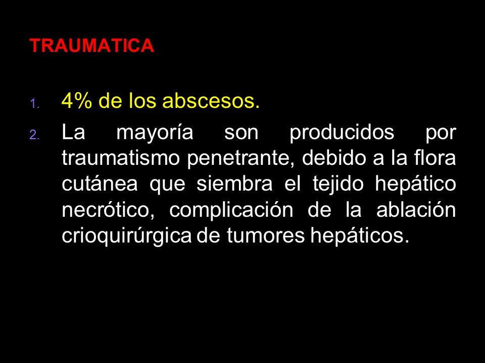 TRAUMATICA 4% de los abscesos.
