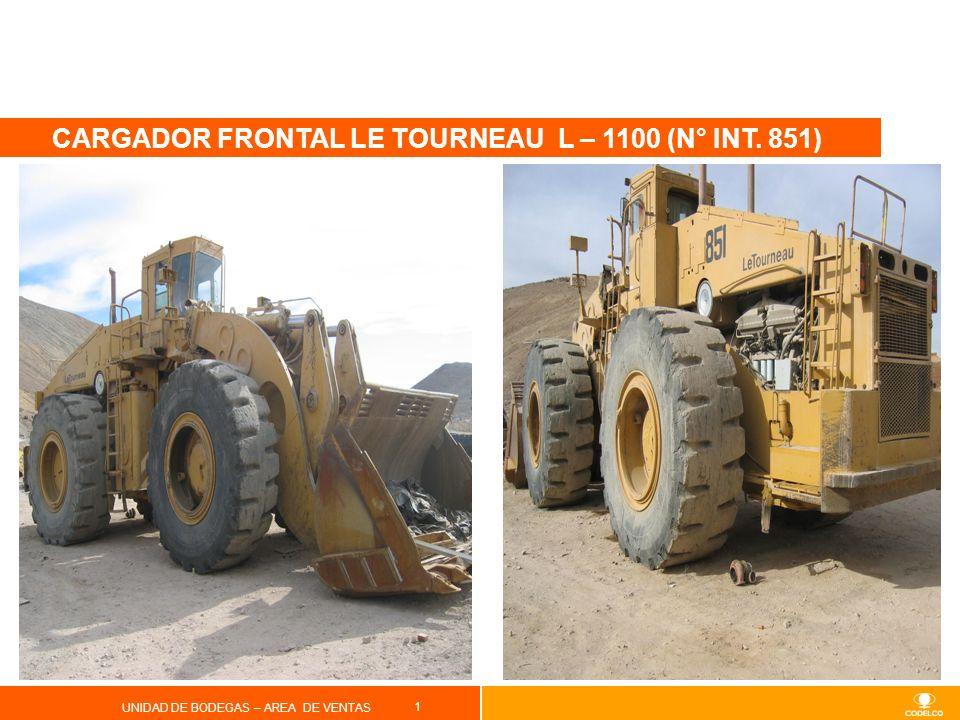 CARGADOR FRONTAL LE TOURNEAU L – 1100 (N° INT. 851)