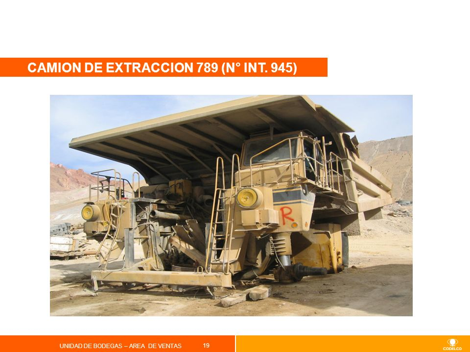 CAMION DE EXTRACCION 789 (N° INT. 945)