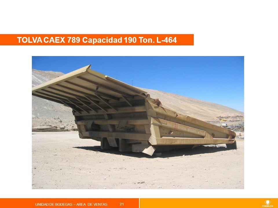 TOLVA CAEX 789 Capacidad 190 Ton. L-464