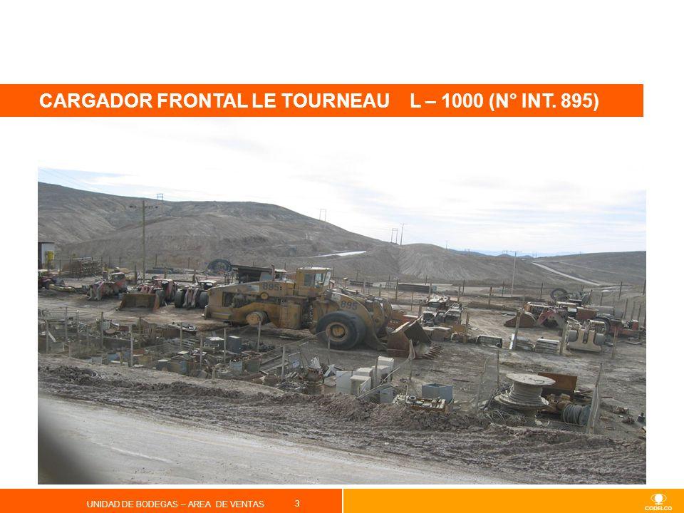 CARGADOR FRONTAL LE TOURNEAU L – 1000 (N° INT. 895)