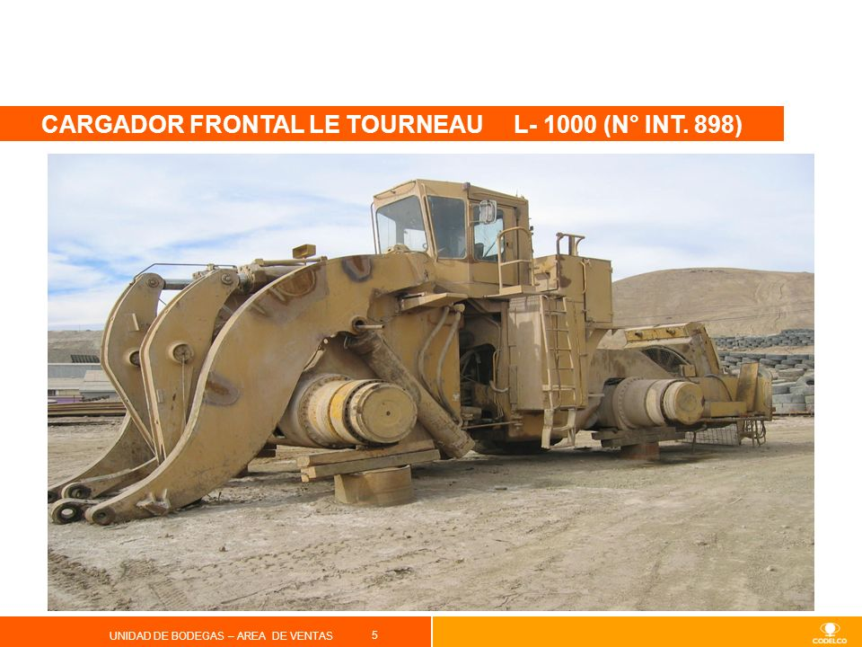 CARGADOR FRONTAL LE TOURNEAU L- 1000 (N° INT. 898)