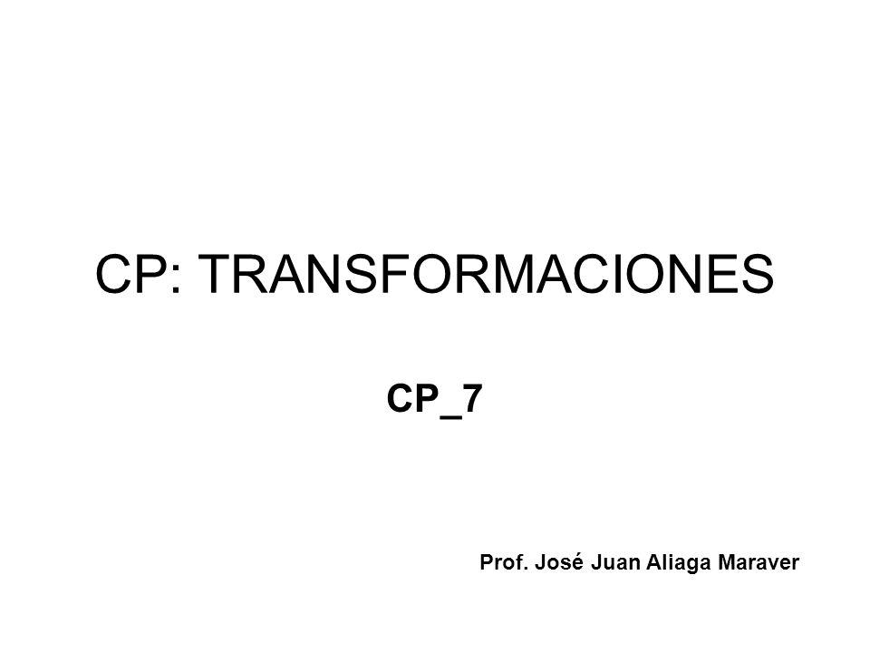 CP: TRANSFORMACIONES CP_7 Prof. José Juan Aliaga Maraver